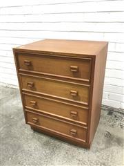 Sale 9056 - Lot 1055 - Vintage Parker 4 Drawer Bedside Chest (h:76 x w:46 x d:45cm)