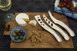 Sale 9240L - Lot 45 - 3-Piece Cheese Set - Polished - Laguiole Organique by Louis Thiers