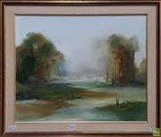Sale 8600 - Lot 2090 - Ken Taber - Landscape oil on canvas board, 40 x 50cm, signed lower left