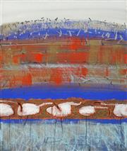 Sale 8633A - Lot 5001 - Jann Rowley (1941 - ) - Brolga Landscape I 76.5 x 57.5cm (frame: 102 x 83cm)