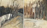 Sale 8755A - Lot 5008 - Artist Unknown (2 works) - Landscape Studies 28.5 x 23.5cm, each (frame: 49 x 44cm)