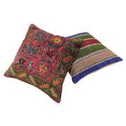 Sale 8761C - Lot 33 - A Pair of Vintage Turkish Kilim Cushions, Wool, 50x50cm, RRP $350