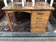 Sale 8822 - Lot 1571 - Vintage Single Pedestal Desk