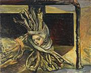 Sale 8847 - Lot 576 - Wendy Stavrianos (1941 - ) - Vision on the Sheaf, 1990 40.5 x 50.5cm