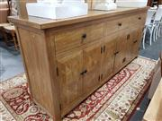 Sale 8934 - Lot 1051 - Parquetry Elm Sideboard with Three Drawers & Six Doors