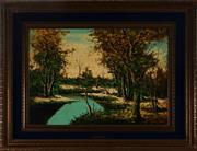 Sale 9019 - Lot 2044 - A Giglio - Mystic River 49 x 69.5 cm (frame: 78 x 98 x 6 cm)