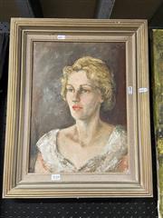 Sale 8995 - Lot 2076 - Artist Unknown, Portrait of a Woman, Oil, 40.5x30cm