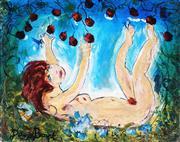 Sale 9067 - Lot 539 - David Boyd (1924 - 2011) - Reclining Nude Picking Fruit 28 x 37 cm (frame: 81 x 87 x 4 cm)