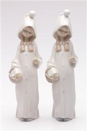 Sale 9052 - Lot 180 - Pair of Lladro Shepherdess with baskets figurines (H22cm)