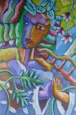 Sale 9093A - Lot 5066 - Graham Borough (1943 - ) - Tropical Delight 84 x 56 cm (frame: 115 x 89 x 3 cm)