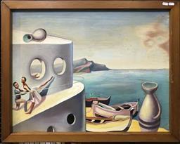 Sale 9106 - Lot 2009 - J. Schultz (C20th) Ballet Scene oil on board 69 x 81 cm (frame) signed lower left