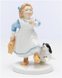 Sale 9245R - Lot 77 - An English Royal Doulton bone china figure, Hometime, HN 3685, Ht: 14cm