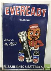 Sale 8435 - Lot 1056 - Enamel Eveready Insist On The Best Sign 45.5cm x 30.5cm
