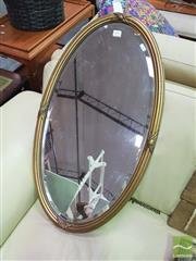 Sale 8447 - Lot 1093 - Gold Framed Oval Mirror
