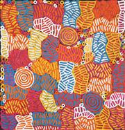 Sale 8675 - Lot 573 - Betty Mbitjana (1955 - ) - Awelye 100 x 96cm