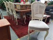 Sale 8672 - Lot 1089 - Set of 8 Louis Style Dining Chairs with Upholstered Seats
