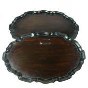 Sale 8775 - Lot 47 - A Pair of Mahogany Serving Trays ( 38cm x 23cm)