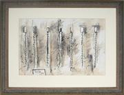 Sale 9021 - Lot 560 - Don Peebles (1922 - 2010) - Drawings for Canvas Pieces, 1978 39.5 x 58.5 cm (frame: 67 x 85 x 5 cm)