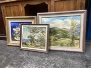 Sale 9091 - Lot 2059 - Joan Vears (3 works) Scenes from the South Coast, NSW & Still Lifeoil paintings, various sizes/framed