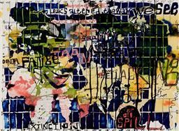Sale 9133 - Lot 599 - Locus Jones (1963 - ) - Untitled (Whistleblowers) 57 x 76 cm (frame: 68 x 87 x 3 cm)