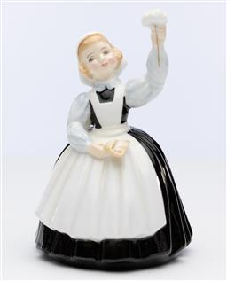 Sale 9245R - Lot 78 - An English Royal Doulton bone china figure, Mothers Help, HN2151, Ht: 13cm