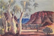 Sale 8297 - Lot 510 - Claude Pannka (1928 - 1972) - Central Australian Landscape 33.5 x 49.5cm