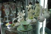 Sale 8340 - Lot 27 - Mintons Figure, Herend Box, Shelley Cup Set & Ceramics