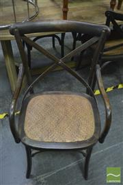 Sale 8418 - Lot 1031 - Set of Six Walnut Oak Crossback Carver Chairs
