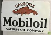 Sale 8435 - Lot 1060 - Enamel Mobiloil Gargoyle Sign 35.5cm x 54.5cm