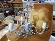 Sale 8760 - Lot 1080 - Metal Chandelier with Three Arms
