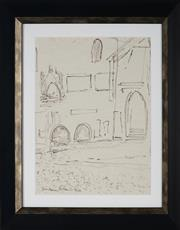 Sale 8908A - Lot 5044 - Desiderius Orban (1884 - 1986) - Street View, 1964 33 x 25.5 cm