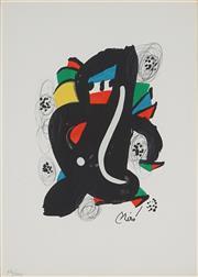 Sale 8938A - Lot 5037 - Joan Miro (1893 - 1983) - La Melodie Acide, 1980 32 x 24 cm (frame: 54 x 46 x 3 cm)