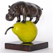 Sale 9038 - Lot 534 - Gillie and Marc - The hippo was just pearfect H:25 x L:28 x W:15 cm (weight: 4 kgs)