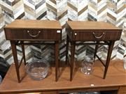 Sale 9039 - Lot 1028 - Pair of Teak Bedside Lockers by Meredew (H54 x W43 x D30cm)
