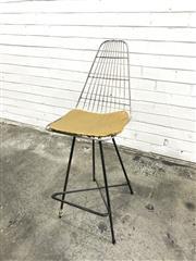 Sale 9056 - Lot 1046A - Bertoia Style Barstool (h:93 x w:46 x d:45cm)