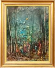 Sale 9071H - Lot 48 - Judy Chapman - Picnicking SLR, dated 77