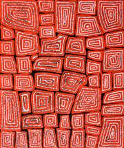 Sale 8288A - Lot 50 - Thomas Tjapaltjarri (c1964 - ) - Tingari 95 x 80cm