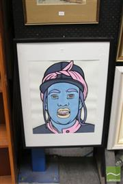 Sale 8458 - Lot 2019 - Jack Vigor (Street Artist, CASPER) - Missy Elliot 49 x 39cm (stretched & ready to hang)