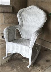 Sale 8430 - Lot 4 - A Lloyd Loom style cane rocking chair