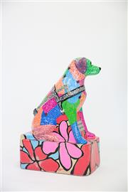 Sale 8479G - Lot 14 - Lee-Anne Plasto - Doodling Dog. Lee-Anne Plasto studied visual arts at the Sydney Gallery School and has been involved in a number...