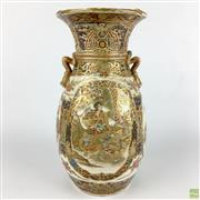 Sale 8589R - Lot 78 - Meiji Period Satsuma Vase, restored (H: 25cm)