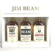 Sale 8830W - Lot 71 - Jim Beam Historic 3-Bottle Set Kentucky Straight Bourbon Whiskey in Display Box - not avaiable for retail sale,