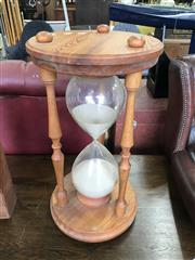 Sale 8817 - Lot 1015 - Large Timber Framed Hour Glass