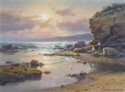 Sale 8847 - Lot 512 - Andris Jansons (1939 - ) - Rocky Shores Near Kiama 28.5 x 38.5cm