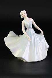 Sale 8894 - Lot 315 - Royal Doulton Pirouette Lady Figure (height - 15cm)