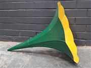 Sale 8988 - Lot 1084 - Copper Painted Gramophone Horn (H:77 x D:56cm)