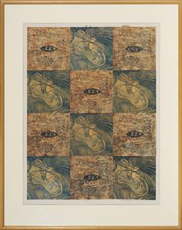 Sale 9113 - Lot 2016 - Christina Cordero (1938 - ) Vision five plate etching and multimedia, ed. 2/3 78 x 58 cm (frame: 105 x 83 x 2 cm) signed and dated l...
