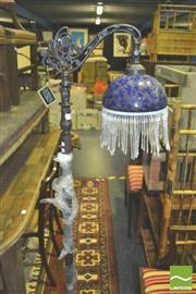 Sale 8371 - Lot 1069 - Beaded Shade Standard Lamp