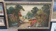 Sale 8433 - Lot 2009 - Artist Unknown (XIX - XX) - Garden Scene 58 x 97cm