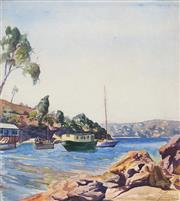 Sale 8657A - Lot 5001 - Allan Grieve (1910 - 1970) - Bantry Bay, Middle Harbour, 1943 30 x 27cm